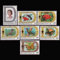 DOMINICA 1969 - Scott# 268-74 Defins. 1/2-6c LH - Dominica (1978-...)
