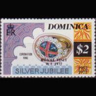 DOMINICA 1977 - Scott# 524A QEII Reign $2 LH - Dominica (1978-...)