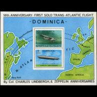 DOMINICA 1978 - Scott# 569 S/S Flight-Planes MNH - Dominica (1978-...)