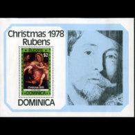 DOMINICA 1978 - Scott# 583 S/S Christmas-Rubens MNH - Dominica (1978-...)