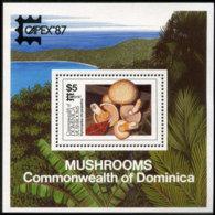 DOMINICA 1987 - Scott# 1028 S/S Mushrooms MNH - Dominica (1978-...)