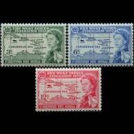 ST.KITTS-NEVIS 1958 - Scott# 136-8 W.I.Fed. Set Of 3 LH - St.Kitts Und Nevis ( 1983-...)