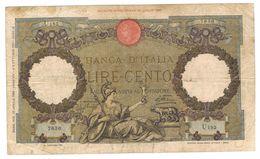 Italy 100 Lire, P-55a, Used. See Scan. - [ 1] …-1946 : Koninkrijk