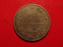 Italie - 20 Centesimi 1863 M BN Vittorio Emanuele 3374 - 1861-1878 : Victor Emmanuel II