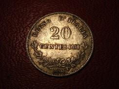 Italie - 20 Centesimi 1863 M BN Vittorio Emanuele 3378 - 1861-1878 : Victor Emmanuel II