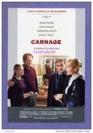 MOVIE FILM ADVERTISMENT POSTER POSTCARD For THE FILM  CARNAGE Mit JODY FOSTER KATE WINSLET CHRISTOPH WALTZ JOHN C REILLY - Afiches En Tarjetas