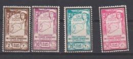 SYRIE         N°  YVERT  :   PA   101/104  NEUF AVEC  CHARNIERES      ( Ch 1869  ) - Poste Aérienne