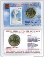 Numismatica STAMP & COIN CARD PER LA BEATIFICAZIONE DI PAPA GIOVANNI PAOLO II° - 1° MAGGIO 2011 - VATICAN CITY VATICANO - Vaticano