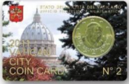 Numismatica STAMP & COIN CARD N° 2 - GIOVANNI PAOLO II° -  2011 - VATICAN CITY VATICANO - Vaticano