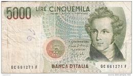 ITALIE   5000 Lire   4/1/1985   P. 111b - [ 2] 1946-… : Républic