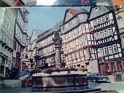 GERMANY ALLEMAGNE MARBURG An Der Lahn---Am Marktbrunnen AUTO CAR Voiture Mercedes Et WV  VB1975 GJ18354 - Marburg