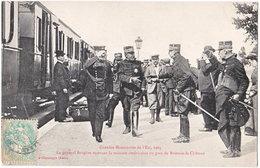 10. Gare De BRIENNE-LE-CHATEAU. Le Général Brugère Recevant La Mission Américaine - France