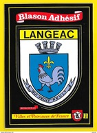 LANGEAC Rare Blason Adhésif (Kroma N° 402) Haute Loire (43) - Langeac
