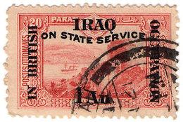 (I.B) Iraq Postal : British Occupation : 1a On 20pi OP (State Service) - Iraq