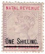 (I.B) Natal Revenue : Duty Stamp 1/- On 4/- OP - South Africa (...-1961)