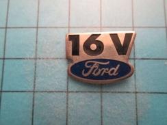Pin513b Pin's Pins /  LOGO DE LA MARQUE FORD 16V   , Belle Qualité !!!    Marquage Au Dos : ----- - Ford