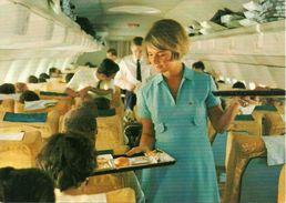 "Aeroplano (Avion, Airplane) Lufthansa, ""Service, Intercontinental Jet"", Pranzo A Bordo - 1946-....: Era Moderna"