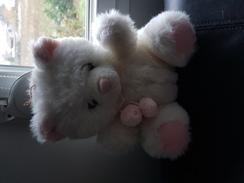 Ours En Peluche Rose Et Blanc - Cuddly Toys