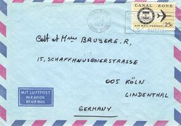 CANAL ZONE - AIR MAIL LETTER 1969 BALBOA - KÖLN/GERMANY - Canal Zone