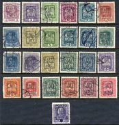 ROMANIAN OCC. OF UKRAINE 1919 Range Of 25 Overprinted Stamps, Used. - Foreign Occupations