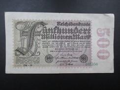 BILLET REICHSBANKNOTE (V1719) 500 FUNFHUNDERT MARK (2 Vues) BERLIN 01/09/1923 - [ 3] 1918-1933 : Repubblica  Di Weimar