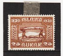 MAG1558  ISLAND 1930  Michl 131 (*) FALZ  ZÄHNUNG Siehe ABBILDUNG - Ungebraucht
