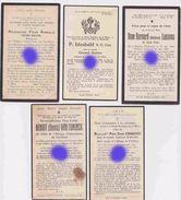 VAL DIEU AUBEL Père Edmond Gyselinx / Idesbald Nutten / Bernard Leesens / Arnold Belon / Benoit  Van Doninck - Obituary Notices