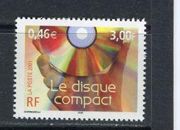 FRANCE - Y&T N° 3376** - Le Siècle Au Fil Du Timbre - Le Disque Compact - Ungebraucht