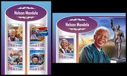 GUINEA 2017 - Nelson Mandela. M/S + S/S. Official Issue - Beroemde Personen