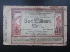 BILLET REICHSBANKNOTE (V1719) ZWEI MILLIONEN MARK (2 Vues) DUISBURG - MEIDERICH 14/08/1923 Rheinischen Stahlwerke - 2 Millionen Mark