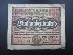 BILLET REICHSBANKNOTE (V1719) FUNF HUNDERT TAUSEND MARK (2 Vues) PHOENIX Dusseldorf 01/08/1923 - 1918-1933: Weimarer Republik