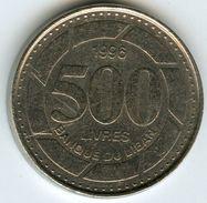 Liban Lebanon 500 Livres 1996 KM 39 - Liban