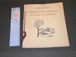 ANDRE DE RIDDER, VALERIUS DE SAEDELEER, EN ZUID-VLAANDEREN, 1937 - Culture