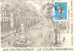 FRANCIA - France - 2003 - Fête Du Timbre - Lucky Luke - Carte Maximum - Aix En Provence - FDC - Cartoline Maximum