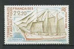 TAAF 1998 N° 230 **  Neuf MNH Superbe Cote 14,50 € Bateaux Voilier Sailboat Ships - Le Cancalais - Ongebruikt
