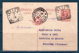 Italia / Italy  1906 Cartolina Postale Da ISELLE (NOVARA) PER STAZZEMA (LUCCA) - Marcophilia