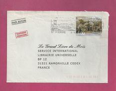 Lettre De Saint Pierre Et Miquelon Pour La France De 2000 - YT N° 713 - Homarderie - St.Pierre Et Miquelon