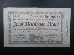 BILLET NOTGELD (V1719) ZWEI MILLIONEN MARK (2 Vues) Stadt Und Landkreis GELSENKIRCHEN 22/08/1923 00346 - [ 3] 1918-1933 : Repubblica  Di Weimar