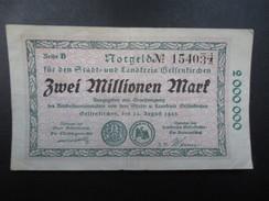 BILLET NOTGELD (V1719) ZWEI MILLIONEN MARK (2 Vues) Stadt Und Landkreis GELSENKIRCHEN 22/08/1923 154034 - 2 Millionen Mark