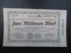 BILLET NOTGELD (V1719) ZWEI MILLIONEN MARK (2 Vues) Stadt Und Landkreis GELSENKIRCHEN 22/08/1923 53237 - 2 Millionen Mark