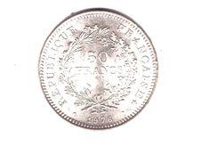 FRANCE . 50 FRANCS HERCULE . 1976 . ARGENT - Réf. N°165B - - M. 50 Francs