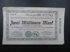 BILLET NOTGELD (V1719) ZWEI MILLIONEN MARK (2 Vues) Stadt Und Landkreis GELSENKIRCHEN 22/08/1923 375781 - 2 Millionen Mark