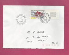 Lettre Pour La France De Saint Pierre Et Miquelon De 1998 - YT N°655 En BDF - Bâtiment De La Poste - St.Pierre Et Miquelon