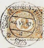 'sGRAVENHAGE Scheveningsche Boschjes Bank Van Verheul 1923 Pracht Kortebalkstempel - Den Haag ('s-Gravenhage)