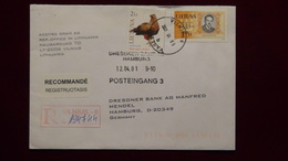 Lithuania - 2000 - Mi:LT 722,732 On Envelope/registered Mail- Look Scan - Lithuania