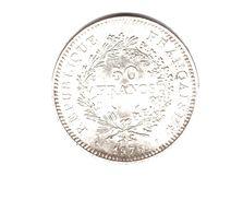 FRANCE . 50 FRANCS HERCULE . 1975 . ARGENT - Réf. N°167B - - M. 50 Francs