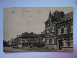 Braine-le-comte L'école Moyenne Circulée 1924 Cliché F. Walschaerts - Braine-le-Comte