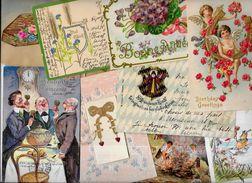 Lot 1010 De 10 CPA Fantaisies Illustrateurs Déstockage Pour Revendeurs Ou Collectionneurs - Postcards