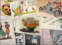 Lot 1011 De 10 CPA Fantaisies Illustrateurs Déstockage Pour Revendeurs Ou Collectionneurs - Cartoline