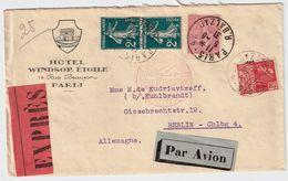 "1931, Lettre Hotel , Expres Et "" Par Avion ""   , #8880 - 1921-1960: Période Moderne"